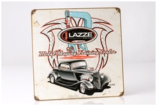 LAZZE metal sign