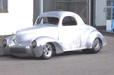 41 Willys Coupe Aluminum body, Step 2 class